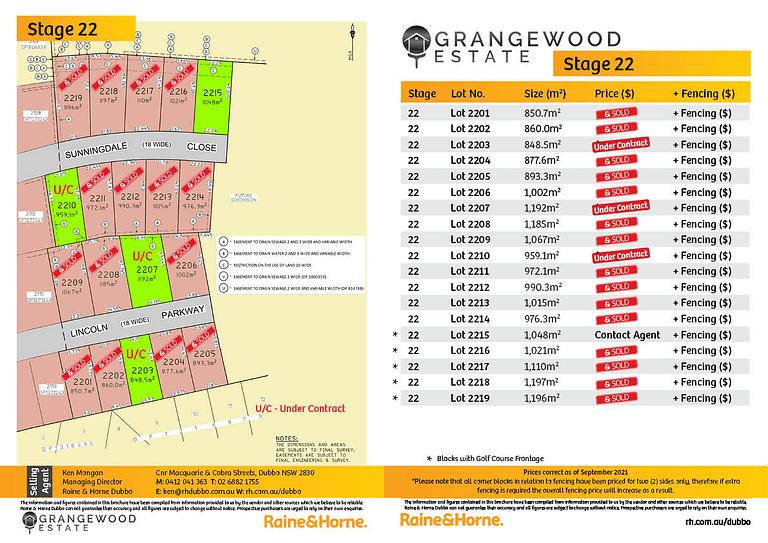 Grangewood Estate   Stage 22 - September 2021