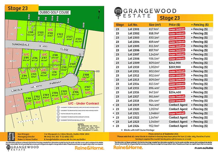 Grangewood Estate   Stage 23 - September 2021